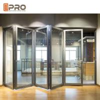 Quality Modern Design Aluminium Folding Stacking Doors For Residential House for sale