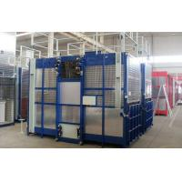Quality Rack and Pinion Double Cabin Construction Hoists for Transport Material and Personnels for sale