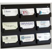 Quality 9-Pocket Acrylic Business Card Holder for Wall, Open Pockets Fit 60 Cards for sale