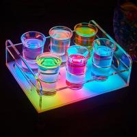 Quality Wholesale led ice buckets for Color changeable LED 6/12-Bottle Shot Glass Bullet Cup drinkware Holder light up Wine rack for sale