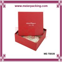 Quality Red square Paper Earring and necklace display box/Handmade Red Square Watch Box Paper  ME-TB026 for sale