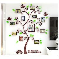 China Photo Frame Tree Country Style Acrylic 3D Waterproof 11 Photo Frames Wall Stickers on sale
