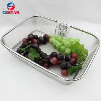 Buy cheap Rectangle Strainer Stainless Steel Mesh Sink Basket Vegetable Fruit Colander Strainer Kitchen Tools from wholesalers