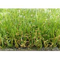 Quality 3 / 8'' Olive Shape Yarn Outdoor Artificial Grass For Wedding Party Decoration for sale