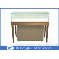 Buy cheap Stardard Lighting Wooden Glass Jewelry Showcase Display Size 1200X550X950MM from wholesalers