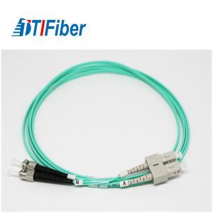 SC-FC LSZH 2.0m Fiber Optic Patch Cables , Fiber Optic Network Cable With Aqua