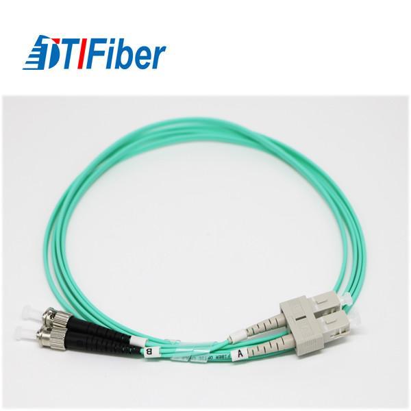 Buy SC-FC LSZH 2.0m Fiber Optic Patch Cables , Fiber Optic Network Cable With Aqua at wholesale prices
