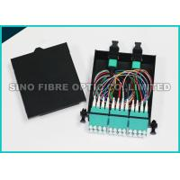 Quality 100G Pre - Assembled MPO Cassette Patch Panel 1 x 24 0.9mm Bare Cable for sale