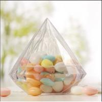Quality empty diamond shaped  sweet food andy chocolate plastic packaging containers for sale