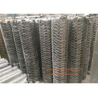 "Quality 1 / 4"" Galvanized Hexagonal Gabion Wall Mesh 0.5 - 2.5m Width For Poultry Netting for sale"