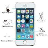 Quality 9H Hardness IPhone Tempered Glass Screen Protector Anti Scratch HD Retina Clarity for sale