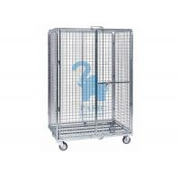 Buy Multi - Level Foldable Wire Mesh Storage Cages Wire Mesh Cart With Wheels at wholesale prices