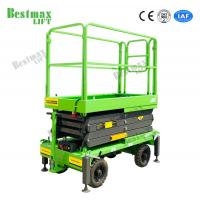 China Manual Pushing Mobile Scissor Lift Working Height 8 Meters 500Kg Loading Capacity on sale