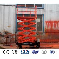 China Electric Hydraulic Car Lift Platform Warehouse Goods Scissor Lifter For Sale on sale