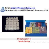 Quality paraffin wax candle making supplier factory price unscented tealight candles for sale