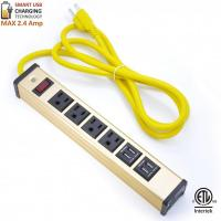 Quality Multi Outlet Desktop Power Strip With USB , Slim Power Bar With USB Charger for sale