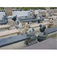 Quality Different Animal Carving Stone Bench, Exquisite Granite Stone Sculpture for sale