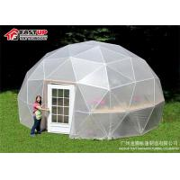 Quality Geodesic Dome Structure Transparent Dome Tent With PVC Sidewall / Window for sale