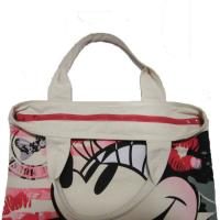 Quality Waterproof Shopping  Nylon Tote Bag 420D Mickey Pattern With Zipper for sale