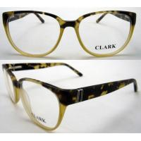 Quality Yellow Black Square Acetate Stylish Womens Eyeglass Frames 53-16-136mm for sale