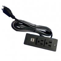 Quality USA power strip with 2 usb ports UL socket furniture socket for sale