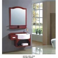 Buy cheap Simple Feature Solid Wood Bathroom Cabinet 4 / 5 mm silver glass mirror from wholesalers