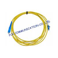 Quality Simplex Singlemode Fiber Optic Cable Patch Cord For FTTH Systems, Low Insertion Loss for sale