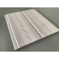 Buy 200*7mm Middle Groove Decorative Plastic Ceiling Panels With Two Silver Line at wholesale prices