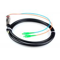 Quality 5M Waterproof SC / APC Pigtail , G652D 2 Core Single Mode Fiber Optic Cable for sale