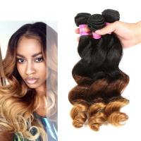 Buy Peruvian Loose Wave Ombre Human Hair Extensions For Black Women at wholesale prices