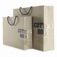 Quality Non-toxic Paper Bags with Glossy Lamination, Fashionable Design, Various Sizes are Available for sale