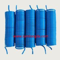 Quality OD12mm PU air coil hose, pneumatic pipe line, Blue color with 100% new PU material, SGS certificates for sale