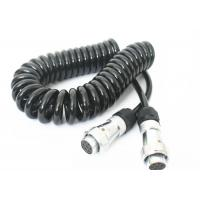 Quality TPU Jacket Retractable Coil Cord For Truck Trailer Power Signal Transmission for sale