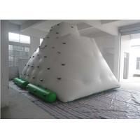 Quality Funny Large Inflatable Water Toys , 0.55 - 0.9mm PVC Tarpaulin Inflatable Iceberg With Manual / Blower for sale