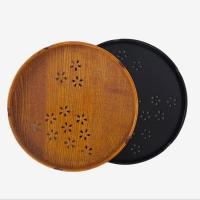 Quality Japanese style circular handmade vintage wooden tray amazon for hotel for sale