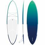 "Quality 9'6"" Fiberglass Blow Up Surfboard 168L Volume High Speed Long Distance Cruising for sale"