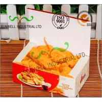 Quality Coated Paper Display Foldable Cardboard Boxes For Fried Food Products Packaging for sale