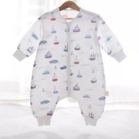 China 4 Layers Comfortable Infant Muslin Sleeping Bag Embroidered Logo Customized Color on sale