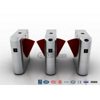 Quality Entrance Flap Pedestrian Turnstile Gate SUS 304 With Fingerprint Recognition System for sale