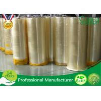China Single Side Strong Adhesive Bopp Jumbo Roll Tape For Packing / Slitting on sale