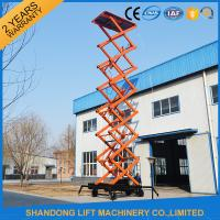 China 4 wheels Mobile Scissor Lift Pallet Truck for Aerial Work 14m Max Lifting Height on sale