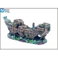 Quality Eco-friendly Vividly Ship Model Resin Ornaments For Aquarium Decoration for sale