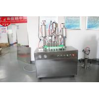 Quality Semi Automatic Aerosol Filling Machine Snow Spray With Glass Balls for sale