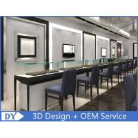 Customized Store Jewelry Display Cases With S / S + Wooden + Glass Material