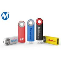 Metal Swivel capless usb flash drive with key loop and can do laser logo
