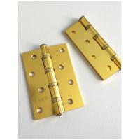 Quality Heavy Four Steel Circle Residential Ball Bearing Door Hinges Soft Closing Flat Head Metal for sale