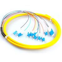 Quality LC / UPC Fiber Optic Jumper Cables , G657A Yellow Simplex Fiber Patch Cord for sale