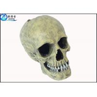 Quality Custom Skull Cool Fish Tank Decorations Aquarium Resin Ornament Home Decorative Products for sale
