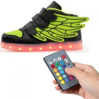 Quality Kids Rechargeable Light Up Shoes , Remote Control Kids Led Light Up Shoes for sale