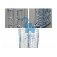 Quality Funky Wire Mesh Storage Cabinets Warehouse Roll Cages For Industry Places for sale
